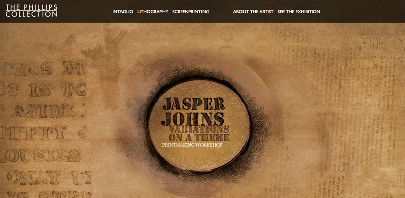 Jasper Johns Splash Page